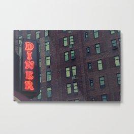 City Diner Metal Print