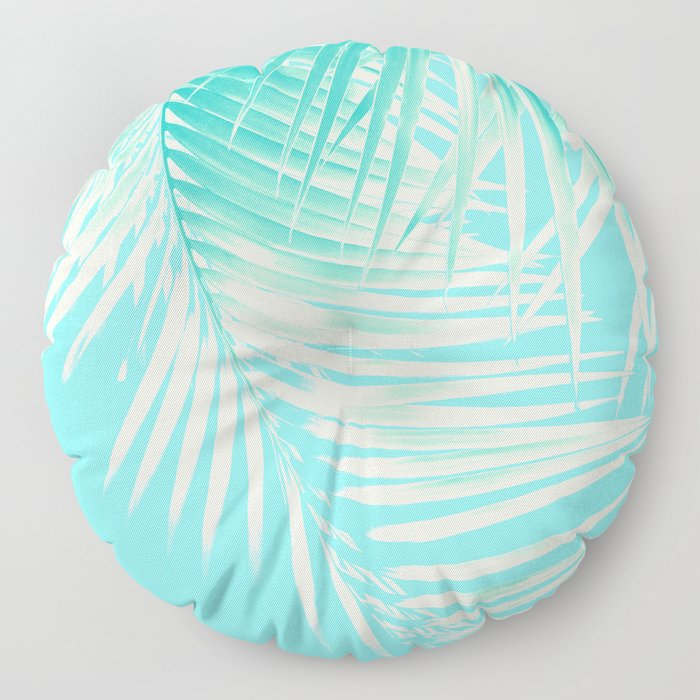 Palm Leaves Summer Vibes #4 #tropical #decor #art #society6 Floor Pillow