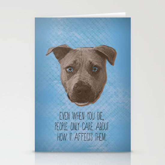 Pit Bull Print Stationery Cards