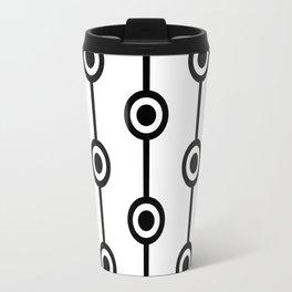 60s Contrast Pattern 1 Travel Mug