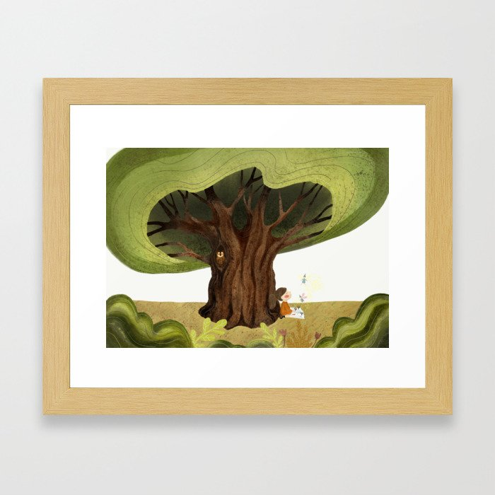 The magic book Framed Art Print