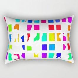 Rainbow Pixel Fashion Rectangular Pillow