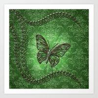decorative Art Prints featuring Decorative butterfly by nicky2342