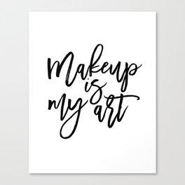 MAKEUP PRINT, Women Gift,Gift For Her,Makeup Salon Decor,Makeup Artist,Fashion Print,Fashion Quote,M Canvas Print