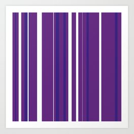 Purple Pin Stripes Art Print