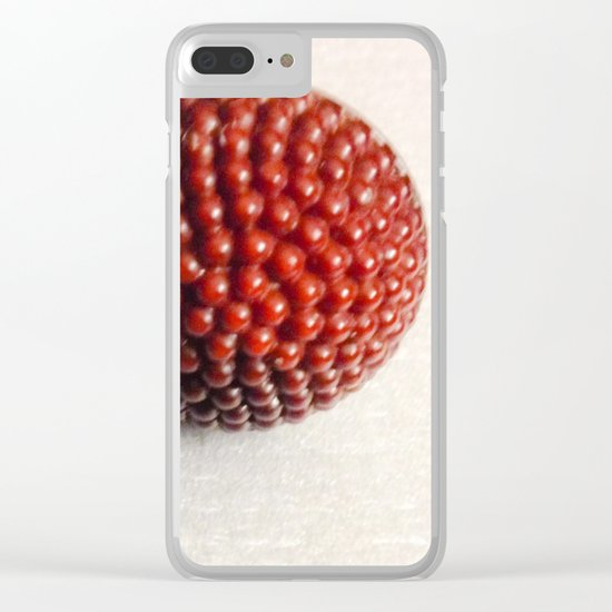 Vintage Raspberry Button | Still Life Clear iPhone Case