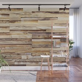Background of old wooden pieces Wall Mural