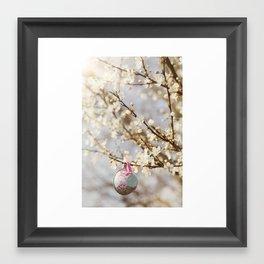 teacups in the blossom Framed Art Print