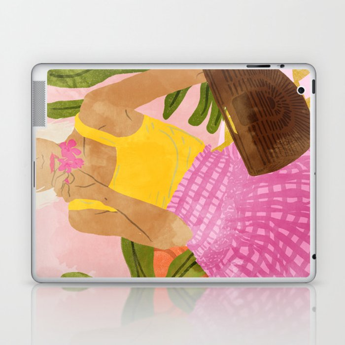 Flower Talk #illustration #painting Laptop & iPad Skin