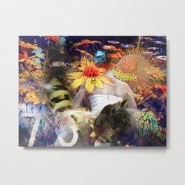 Pop Flowers Metal Print
