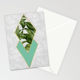 Leaves on marble Stationery Cards