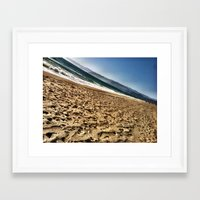 west coast Framed Art Prints featuring West Coast by Fun Kelly