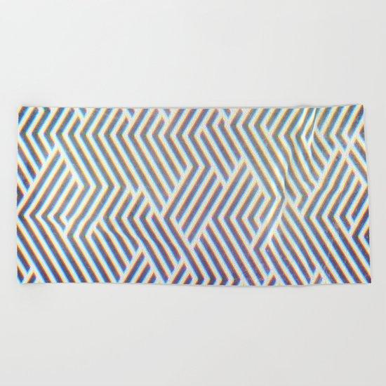 3D Labyrinth Beach Towel