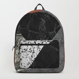 Marble, Granite, Rusted Iron Abstract Backpack