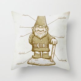 Gnomenclature Throw Pillow