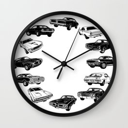 Muscle Car Mania - The Dirty Dozen Wall Clock