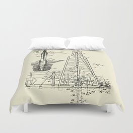 Combination Standard and Hydraulic Drilling Rig-1911 Duvet Cover