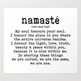 Namaste Kunstdrucke