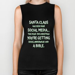 Santas Seen Your Social Media Biker Tank