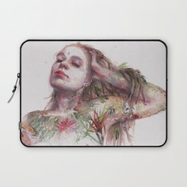 Leaves on Skin Laptop Sleeve