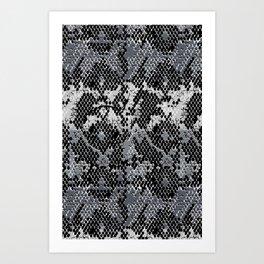 Speckled Python Art Print