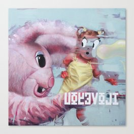little Alice catched by her dream Canvas Print