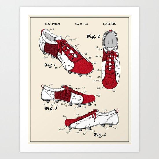Football (Soccer) Cleat Patent Art Print