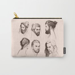 Bearded faces Carry-All Pouch
