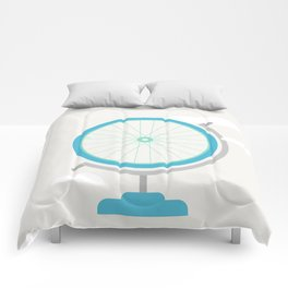 Bike Globe Comforters