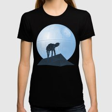 Howl at at the Moon SMALL Black Womens Fitted Tee
