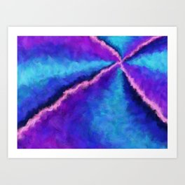 Magic Unicorn Vortex Art Print