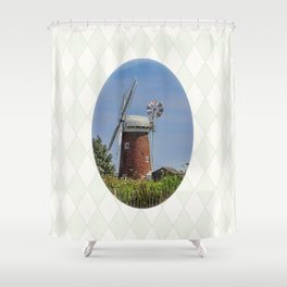 Horsey windpump Shower Curtain