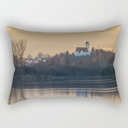 Nature lake and view to St.Martins Church Rectangular Pillow