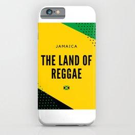 Jamaica the Land of Reggae iPhone Case