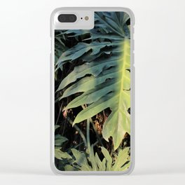 Monstera Leaf Love Clear iPhone Case