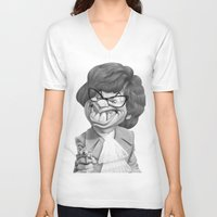 snl V-neck T-shirts featuring Austin Power, Mike Myers by Patrick Dea