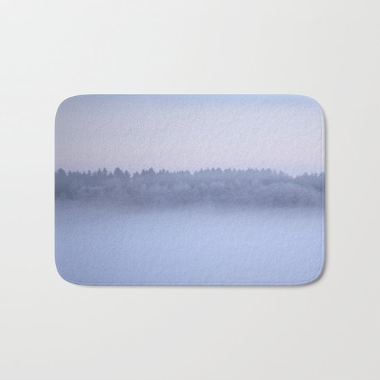 Foggy Blue Hour Bath Mat