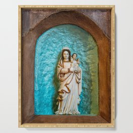 Madonna and Child Serving Tray
