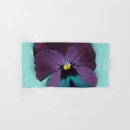 Purple viola tricolor Hand & Bath Towel