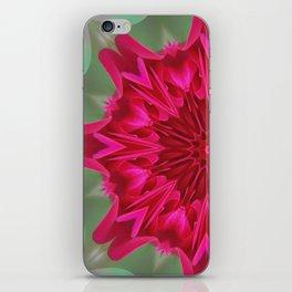 Fluid Nature - Pink Rose Mandala - Kaleidoscope Design iPhone Skin