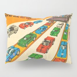 1970 American Issue Vintage Hot Wheels Redline Factory Poster Pillow Sham