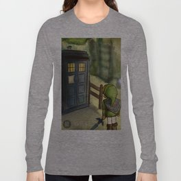 two worlds collide (Doctor Who and Leyend of zelda) Long Sleeve T-shirt