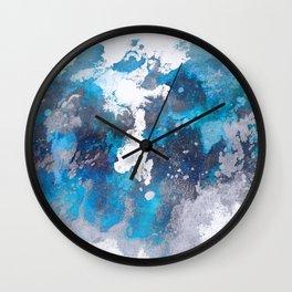 Abstract Ocean Waves Wall Clock