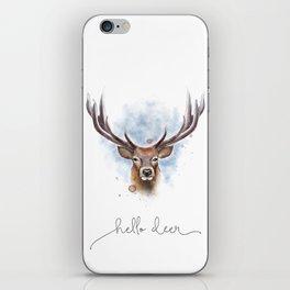 Hello deer iPhone Skin