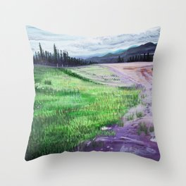 A Beautiful Day to Explore the World Throw Pillow