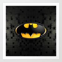 bat man Art Prints featuring BAT MAN by BeautyArtGalery