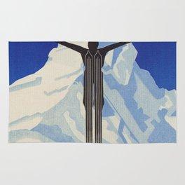 Zermatt, Switzerland Vintage Ski Travel Poster Rug