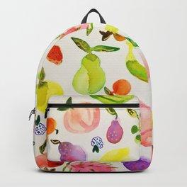 fruit market watercolor Backpack