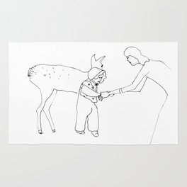 yellow bambi came to me when I was taking my first steps Rug