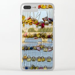 Love padlocks - Paris, France Clear iPhone Case